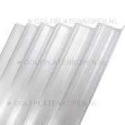 Polycarbonaat golfplaat transparant type F 1100mm drie-wandig